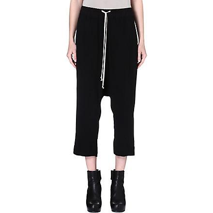 RICK OWENS Drop-crotch trousers (Black
