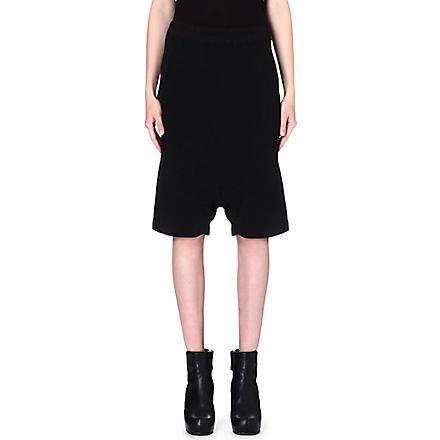 RICK OWENS Drop-crotch shorts (Black