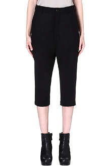 RICK OWENS Cropped boyfriend trousers