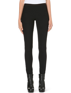 RICK OWENS Skinny stretch-crepe leggings