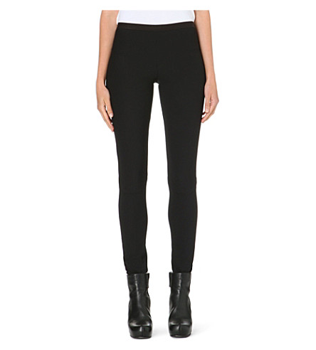 RICK OWENS Skinny stretch-crepe leggings (Black