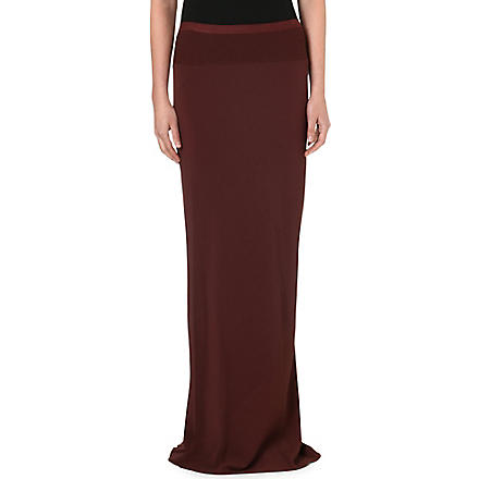 RICK OWENS Maxi skirt (Blood