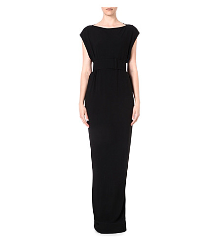 RICK OWENS Belted gown (Black
