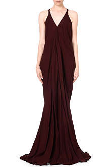 RICK OWENS Draped v-neck gown