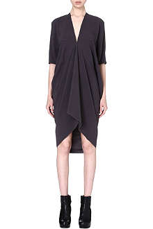 RICK OWENS V-neck crepe dress