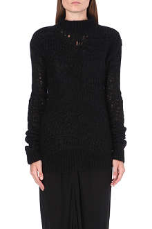 RICK OWENS Mohair-blend crochet-knit jumper