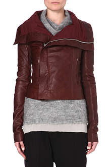 RICK OWENS Long-sleeved leather jacket