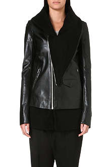 RICK OWENS Cashmere-lined leather jacket