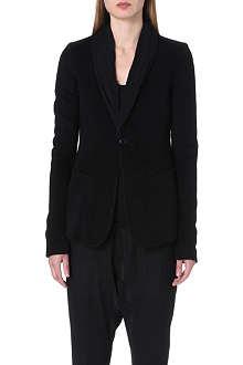 RICK OWENS Shawl-lapel cashmere blazer
