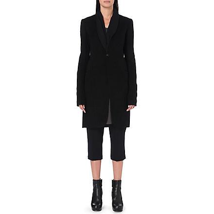 RICK OWENS Cashmere coat (Black