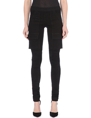 DRKSHDW Cargo-pocket stretch-denim leggings