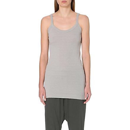 RICK OWENS Long vest top (Pearl