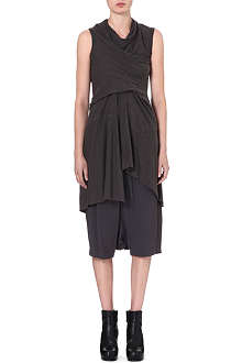 RICK OWENS Draped sleeveless dress