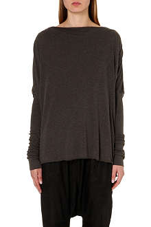 RICK OWENS Long-sleeved jersey top