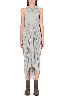 RICK OWENS Draped sleeveless jersey dress