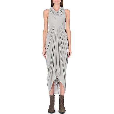 RICK OWENS Draped sleeveless jersey dress (Pearl