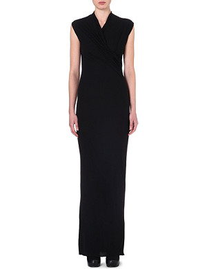 RICK OWENS Draped sleeveless gown