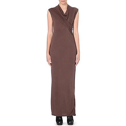 RICK OWENS Draped wrap dress (R44