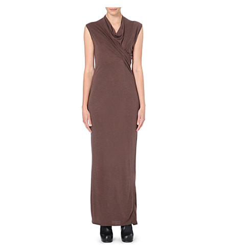 RICK OWENS Draped wrap dress (R44