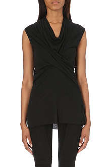 RICK OWENS Draped jersey top