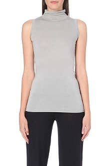 RICK OWENS Turtleneck sleeveless jersey top