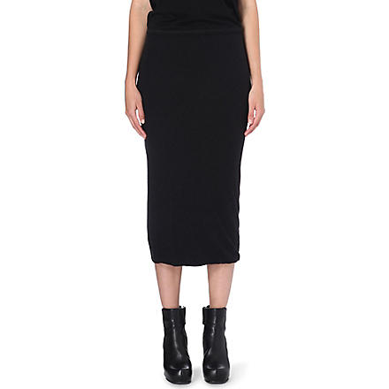 RICK OWENS Stretch-jersey pencil skirt (R09