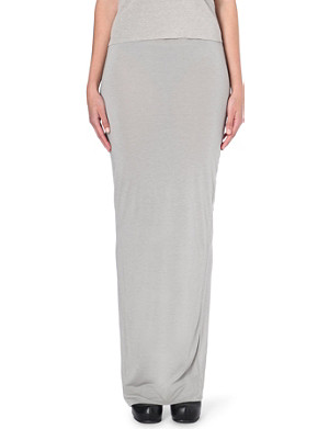 RICK OWENS Wrap-style stretch-jersey maxi skirt