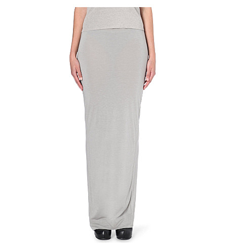 RICK OWENS Wrap-style stretch-jersey maxi skirt (L08