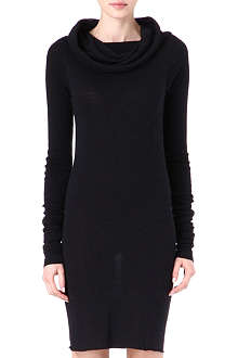 RICK OWENS Hooded knit dress