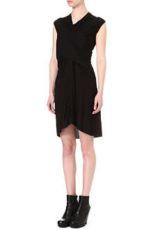 RICK OWENS Twisted-front jersey dress