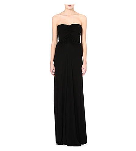 RICK OWENS Jersey maxi dress (Black