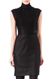 GARETH PUGH High-neck leather dress