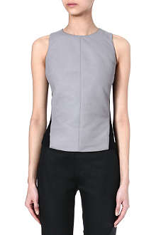 GARETH PUGH Leather and jersey top