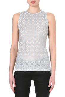 GARETH PUGH Semi-sheer triangle panel top