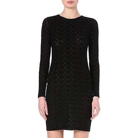 GARETH PUGH Semi-sheer printed dress (Blk