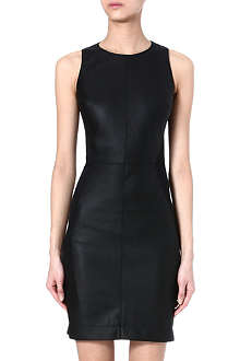 GARETH PUGH Leather and jersey dress