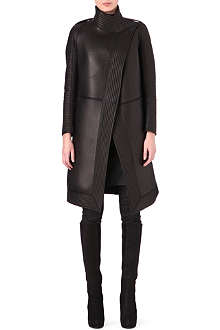 GARETH PUGH Quilted leather neoprene coat