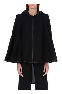 GARETH PUGH Leather-trimmed wool cape