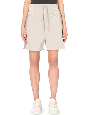 RICK OWENS Drop-crotch cotton shorts