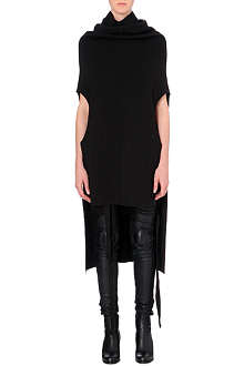 RICK OWENS Dropped-hem wool dress