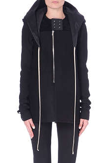 RICK OWENS Hooded wool coat