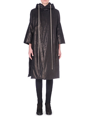 RICK OWENS Hooded leather coat