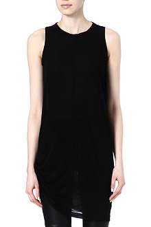RICK OWENS Draped-seam top