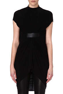 RICK OWENS Leather panel dress