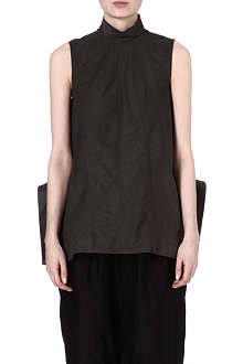 RICK OWENS Structured leather top