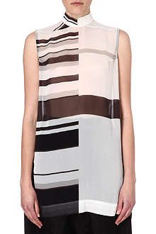 RICK OWENS Stripe silk top