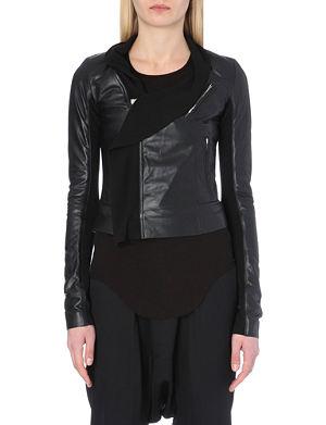 RICK OWENS LGI leather biker jacket