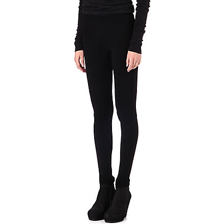RICK OWENS Biker wool leggings (Black