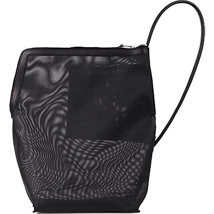 RICK OWENS Mesh bucket bag (Black