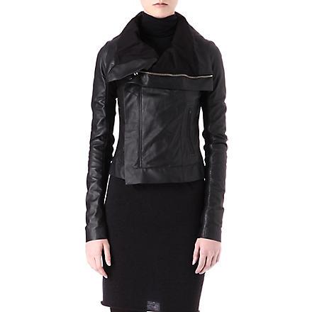 RICK OWENS Classic biker jacket (Black